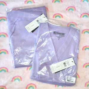 Grey's Anatomy Lilac Scrubs Set, NWT